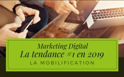 La tendance Marketing Digital #1 que tu dois maîtriser en 2019 : La mobilification